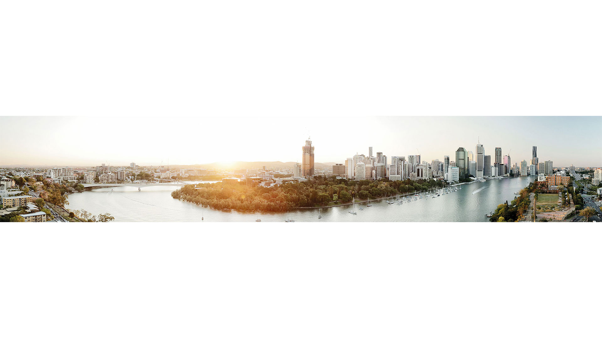Brisbane Panoramic at Sunset
