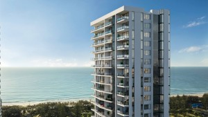 Back plate aerial drone photography for 3D rendering of proposed property on the Gold Coast.