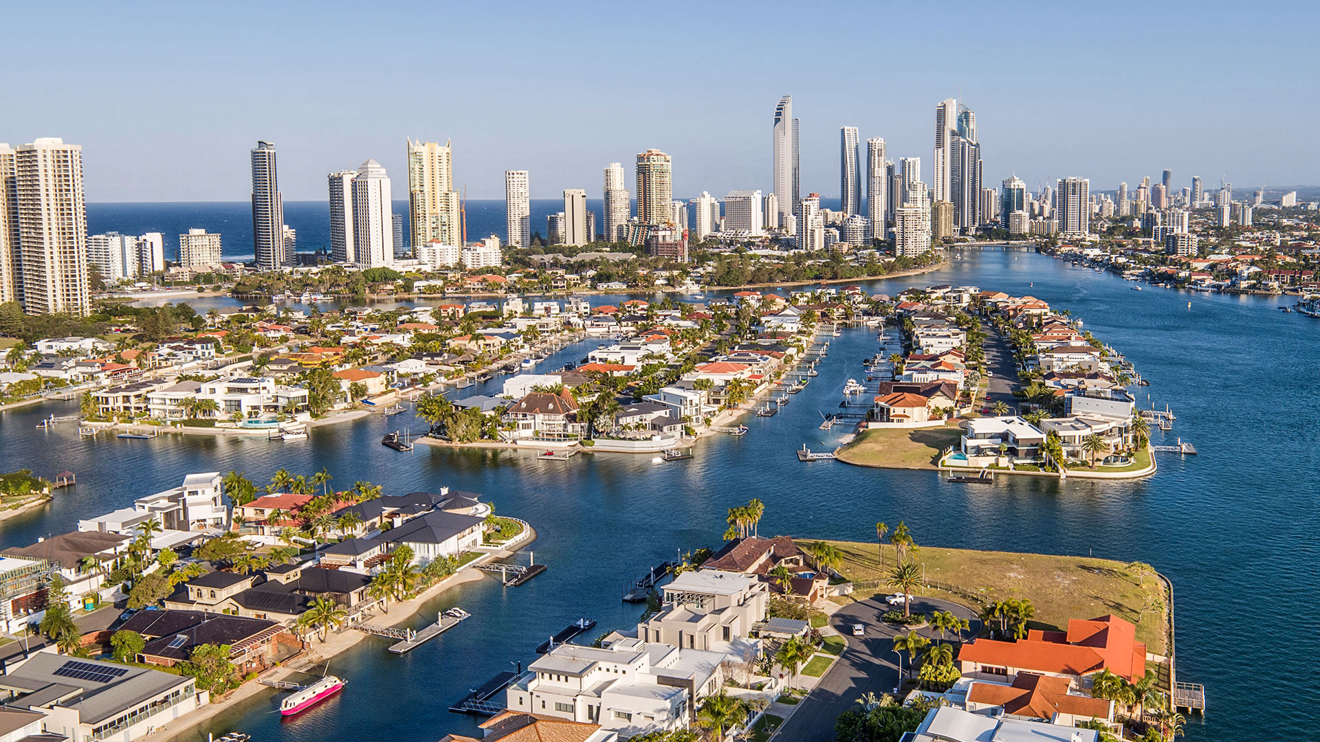 Aerial drone photography on the Gold Coast.