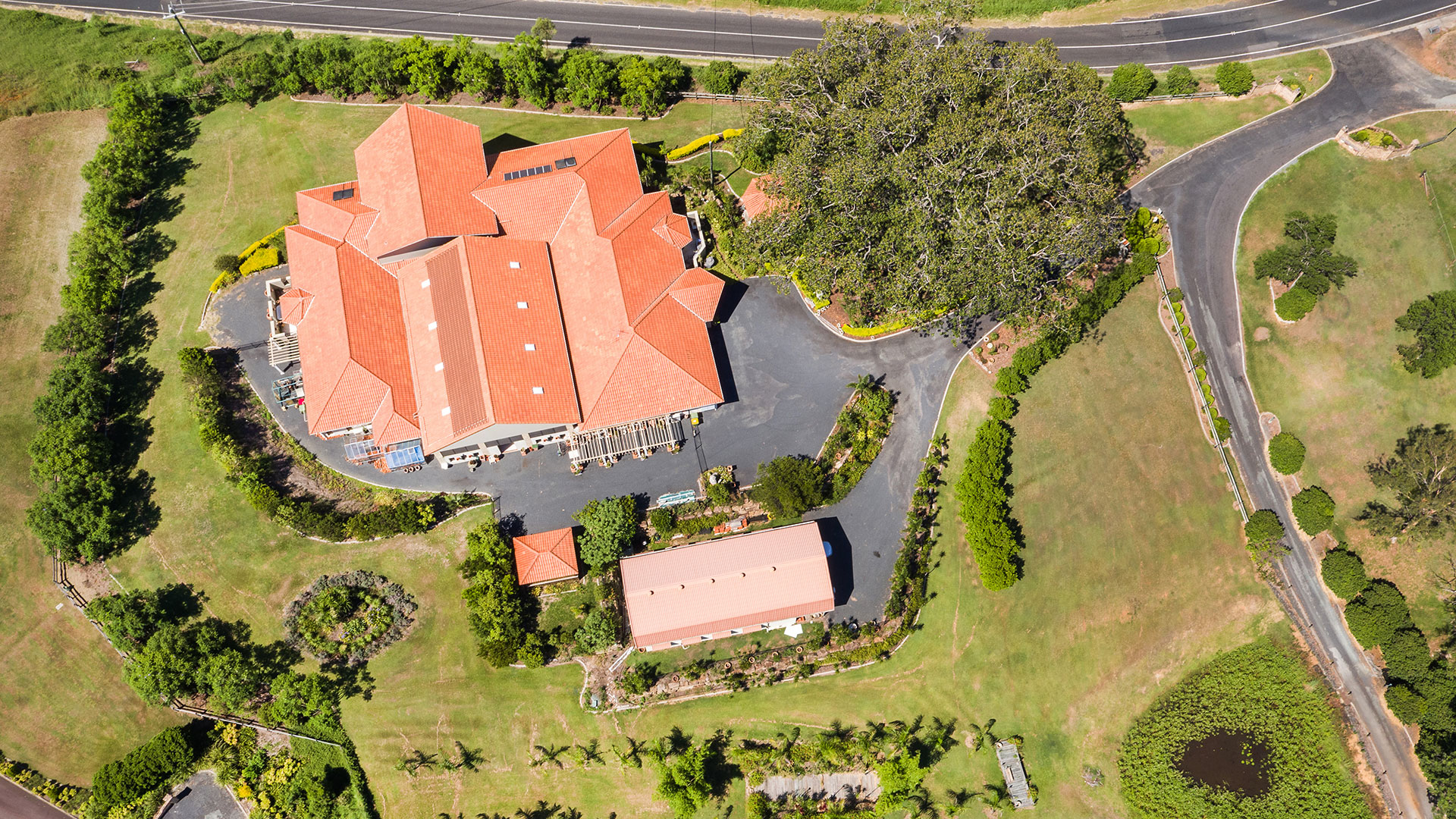 Aerial drone photography for real estate sales marketing.