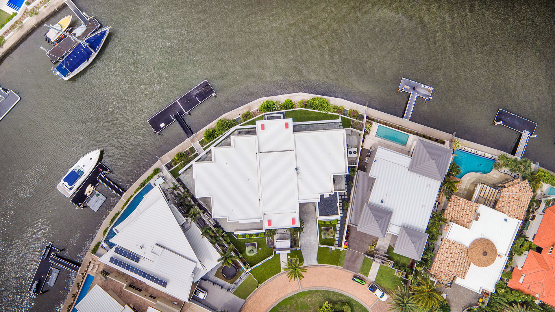 Aerial drone photography for high end property sales. © FLYFILM