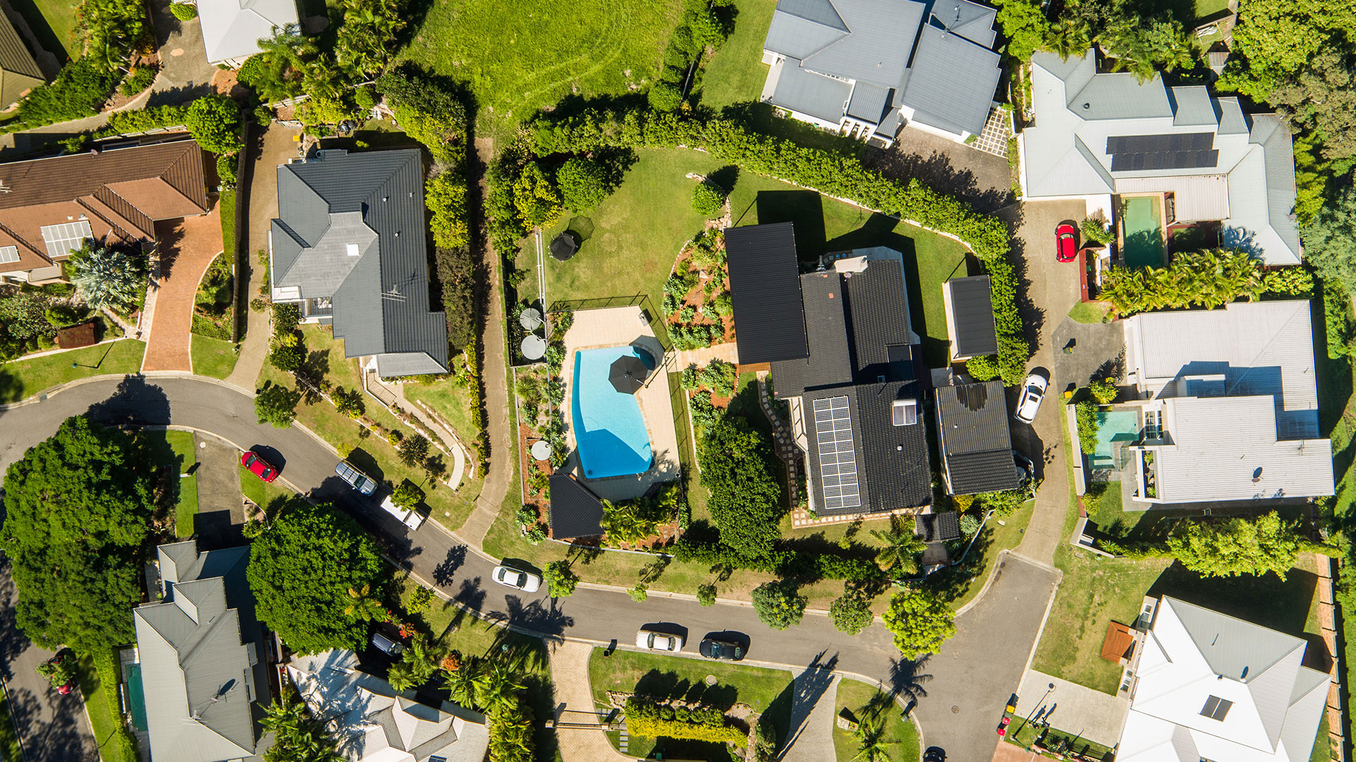 Aerial drone photography for real estate sales.